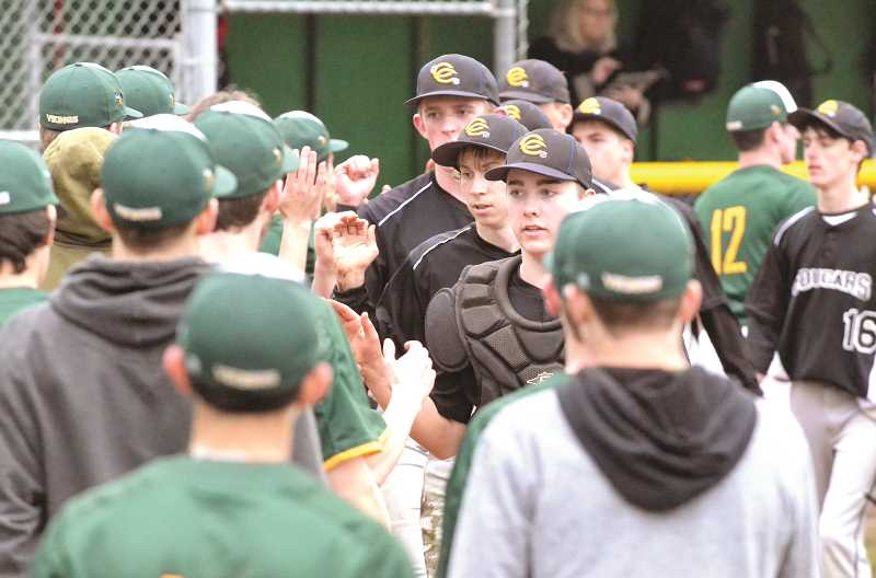 PMG PHOTO: TANNER RUSS - Country Christian/North Clackamas Christian edged Colton in a three game series, 2-1.