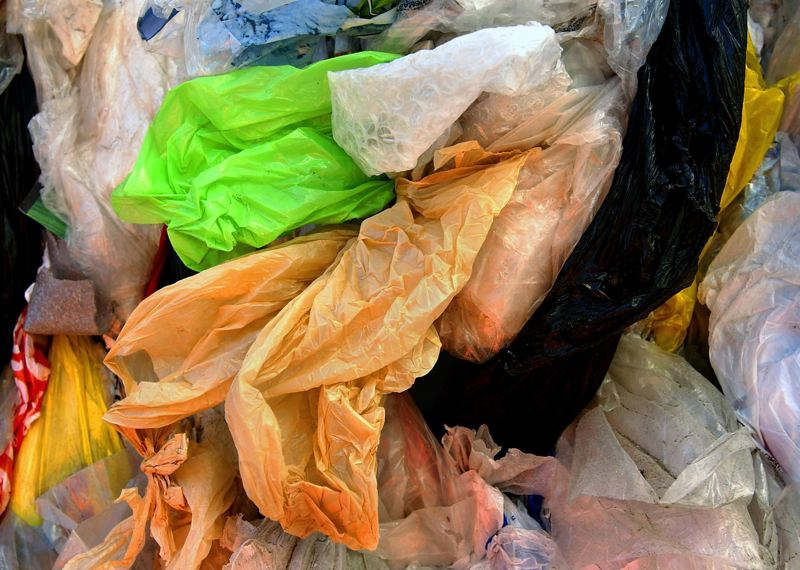 PMG FILE PHOTO - A bundle of plastic bags jamming up local recyclers' machines shows one part of a challenge with single-use plastic bags.
