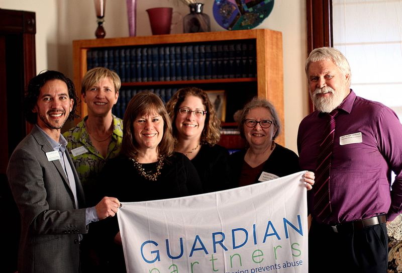 SUBMITTED PHOTO - Guardian Partners recently announced an expansion of its programs into Columbia County and held a launch party in March.  Pictured from left to right are Guardian Partners Executive Director Marc Kochanski, Board Vice Chair Sibylle Baer, Columbia Circuit Judge Jenefer Grant, Board President Theressa Hollis, education consultant Holly Berman and Columbia Circuit Judge Ted Grove.