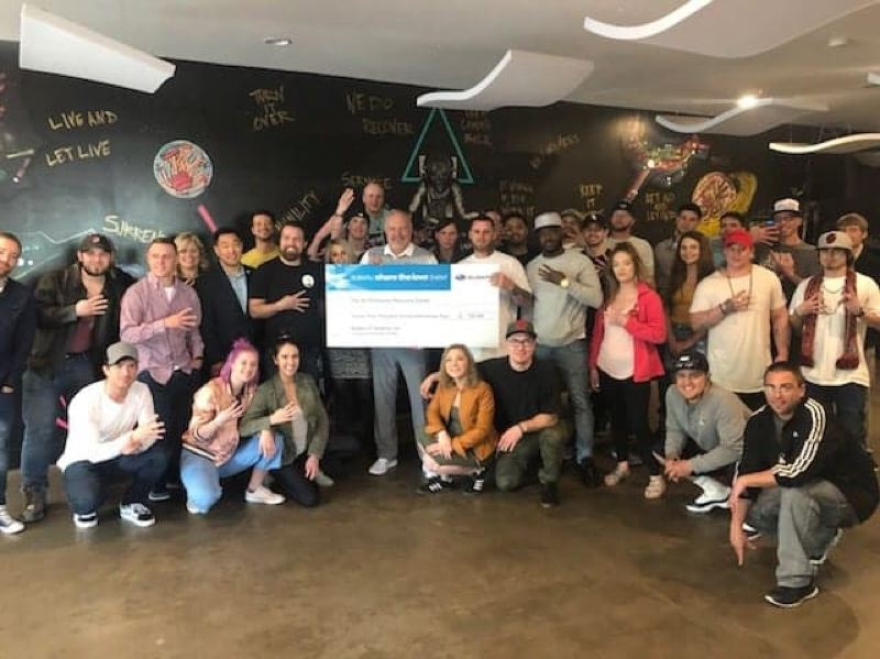 4TH DIMENSION RECOVERY CENTER - A photo of the check presentation ceremony.