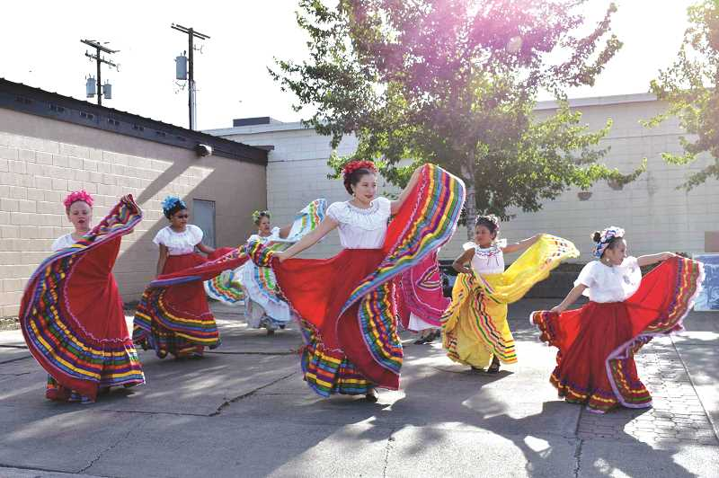 SUBMITTED PHOTO - Spanish-themed youth dancing was featured during one of last year's First Thursday events in downtown Madras. The event provides entertainment to the community, while showcasing its downtown businesses.