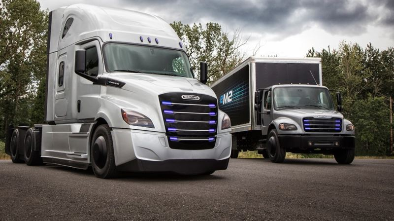 COURTESY: DAIMLER - Daimler announced last week that the Portland manufacturing plant will begin making electric trucks in 2021.