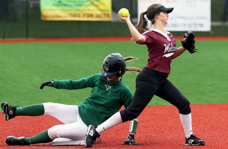 PMG PHOTO: DAN BROOD - The Tualatin softball team may have seen its 45-game winning streak snapped recently, but the Timberwolves are still the top-ranked team in the state.