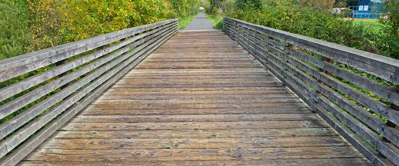 COURTESY PHOTO: PORTLAND PARKS & RECREATION - Bridge #140 along the Springwater Corridor Trail between Circle Avenue and Southeast 174th Avenue will be closed for renovations.