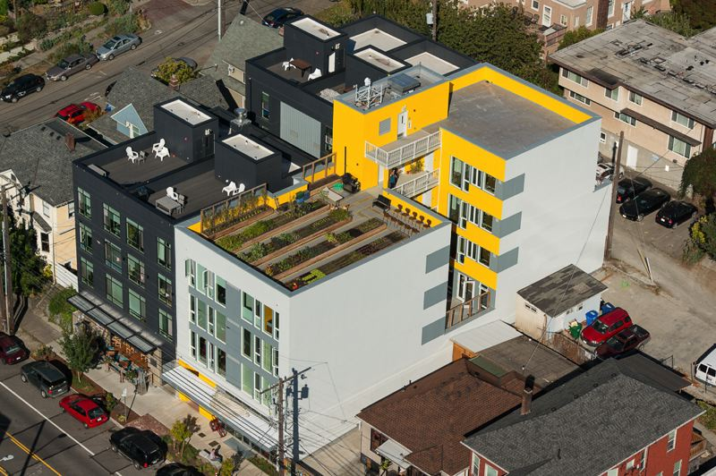 COURTESY: WILLIAM WRIGHT PHOTOGRAPHY - Capitol Hill Urban Cohousing designed by Schemata Workshop, a 12- person Seattle architecture practice. Schemata CEO Grace Kim lives and works there.