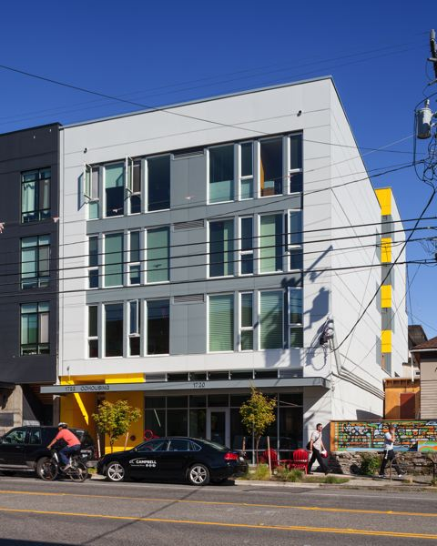COURTESY: GENSLER-RYAN GOBUTY/WILLIAM WRIGHT PHOTOGRAPHY/ALAN TSE DESIGN - Capitol Hill Urban Cohousing designed by Schemata Workshop, a 12- person Seattle architecture practice. Schemata CEO Grace Kim lives and works there.