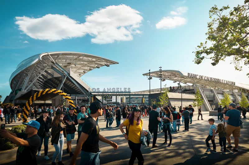 COURTESY: GENSLER-RYAN GOBUTY - LAFC's Banc of California Stadium soccer stadium in Los Angeles, which was designed by Gensler Los Angeles and built with fan input before they had a player.