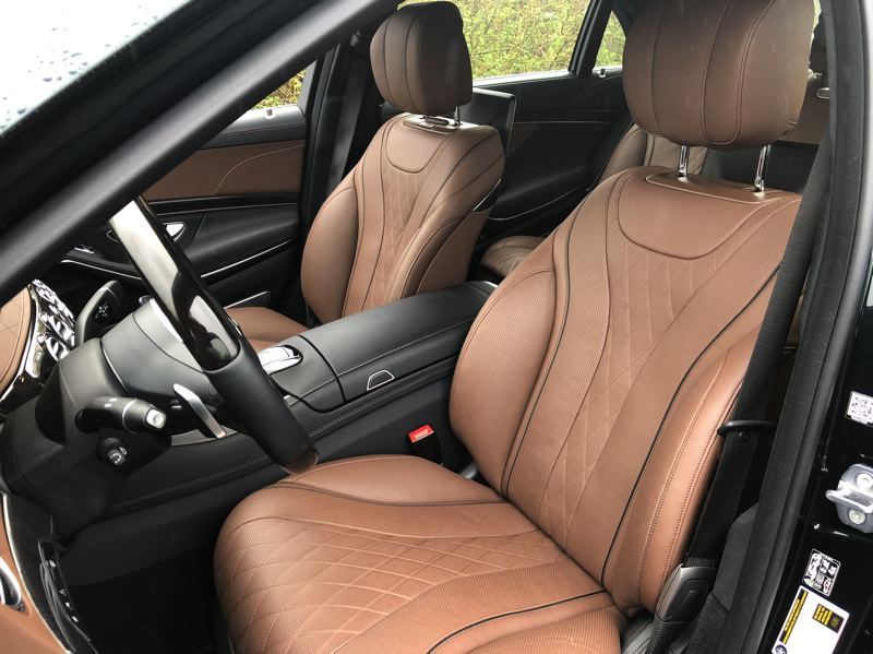 PMG PHOTO: JEFF ZURSCHMEIDE - The front seats in the S 560 are among the most comfortable in the world.
