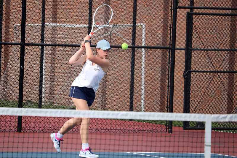 PMG PHOTO: JIM BESEDA - Wilsonvilles Madeleine Klein won a hard fought match 2-1 over La Salles Megan Lamey.