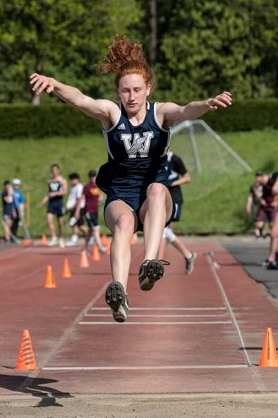 COURTESY PHOTO: GREG ARTMAN - Sophomore Sydney Burns took fourth place in the triple jump with a mark of 303.25.