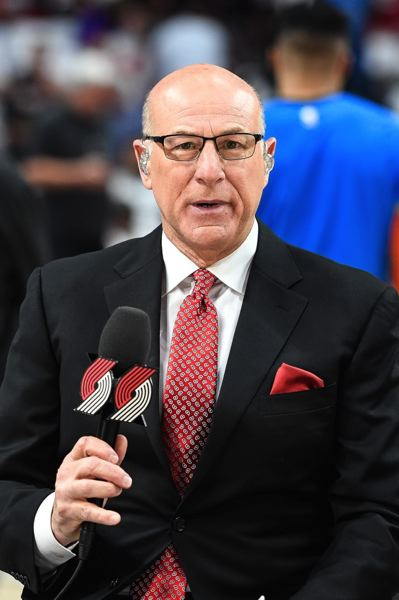 PMG PHOTO: CHRISTOPHER OERTELL - Indiana-bred Kevin Calabro has been able to stay in the Pacific Northwest with his role as TV play-by-play broadcaster for the Trail Blazers.