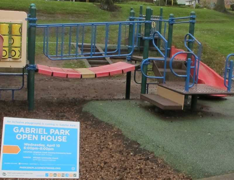 The 20-year-old play structure at Gabriel Park in Southwest Portland was built with the proceeds from the passage of a bond measure in 1994.