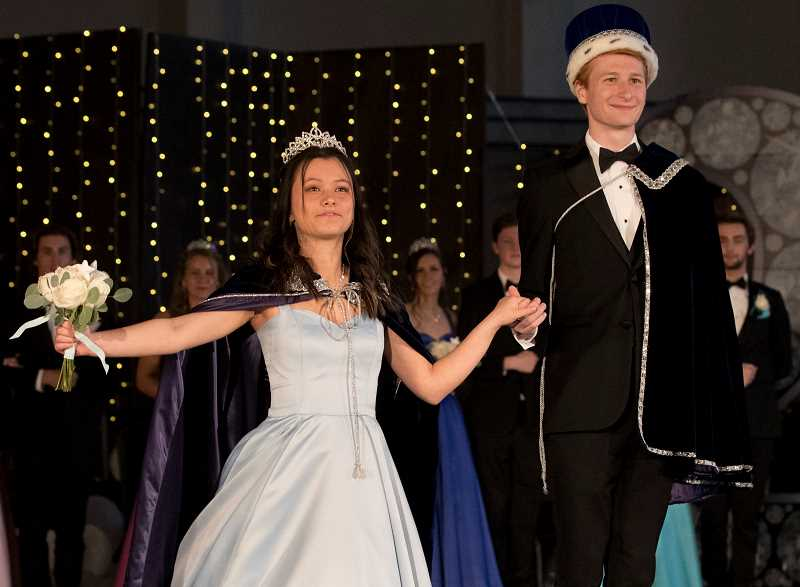 PMG PHOTO: JAIME VALDEZ - Grace Yaso and Joseph Wilde were crowned queen and king during Wilsonville High School's Springfest Starry Night.
