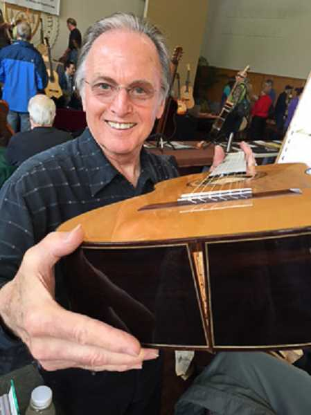 SUBMITTED PHOTO - Jeffrey Elliott of Southeast Portland mkaes six to eight guitars a year by hand. He will be showing some of his work this weekend.