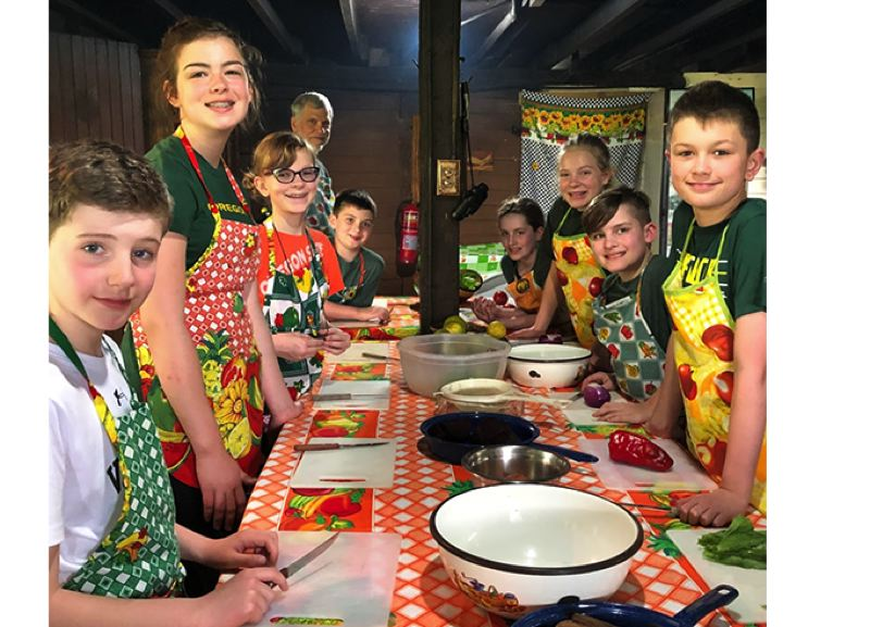 Students from Gardiner Middle School's bilingual program took two cooking classes during their spring-break trip to Costa Rica.