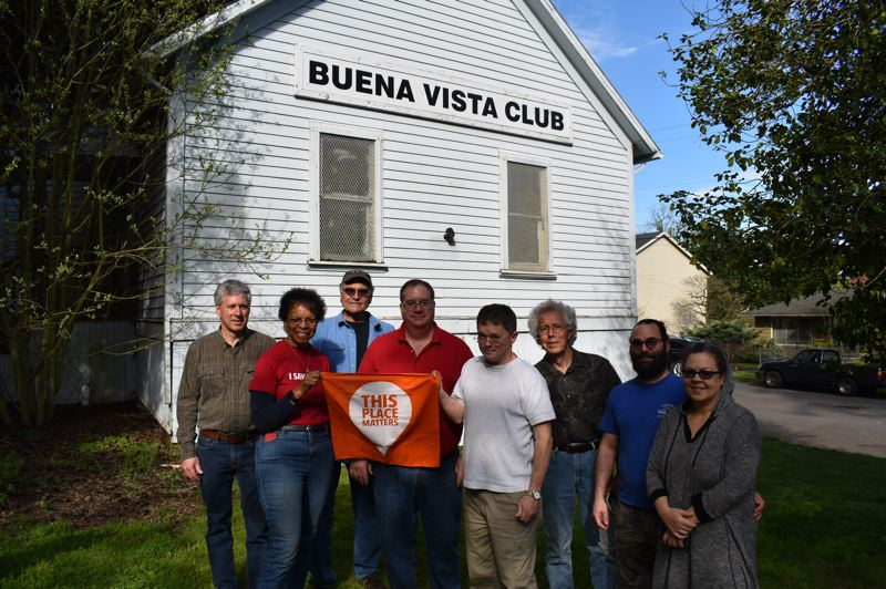 PMG PHOTO: RAYMOND RENDLEMAN - Neighbors and supporters of the Friends of Buena Vista Club House gather in April 2019.