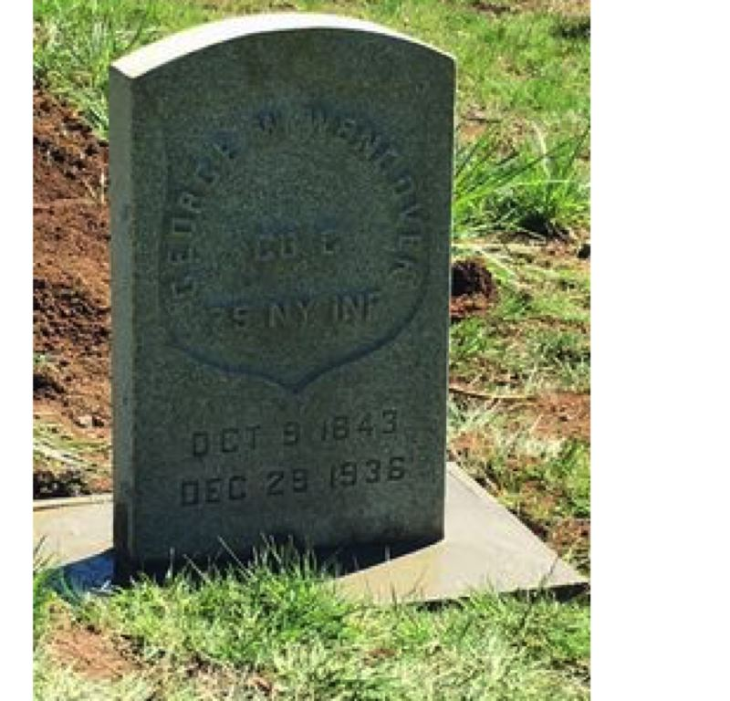 SUBMITTED PHOTO - This headstone for George Wendover will be dedicated on May 4 at Mountain View Cemetery. He was a Civil War veteran who died in Oregon City in 1936.