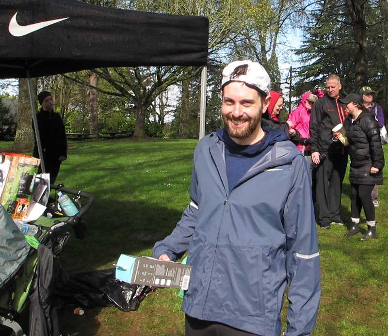 PMG PHOTOS: BILL GALLAGHER - Cameron Chester of Lake Oswego took home some prizes for his first place finsh at the SW Hope 5K on Saturtday, April 6.