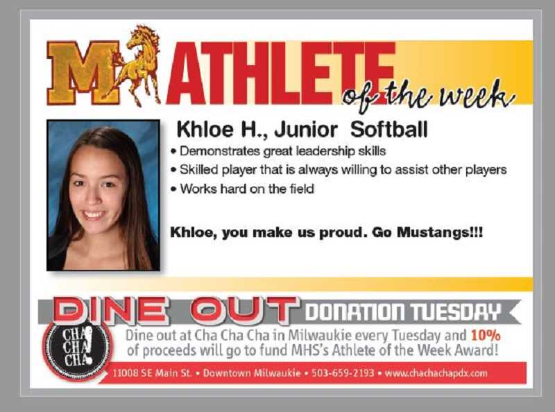 (Image is Clickable Link) MILWAUKIE HS ATHLETE OF THE WEEK - Milwaukie HS Athlete of the Week