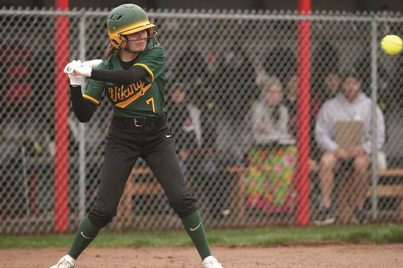 PMG FILE PHOTO: PHIL HAWKINS - Colton freshman Hailee Hordichok has been big for the team offensively, recording a number of hits in the midst of this four game win streak.