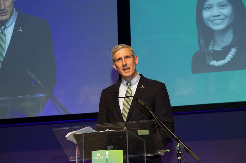 COURTESY PORTLAND BUSINESS ALLIANCE - Portland Business Alliance Board Chair Dave Robertson at the 2019 Annual Meeting.