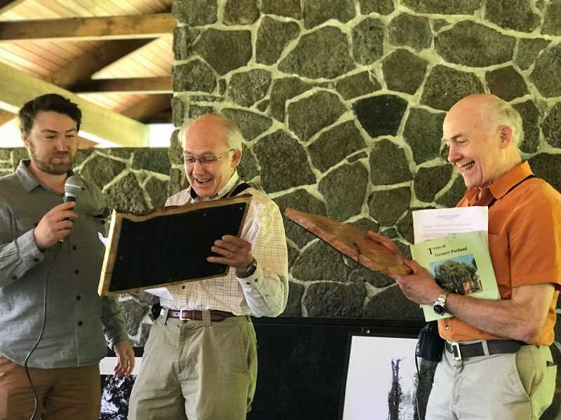 PMG PHOTO: LESLIE PUGMIRE HOLE - The Oregon Heritage Tree Commission awarded brothers Darryl and Darvel Lloyd the Maynard Drawson Award, for their lifelong dedication to Oregon's exceptional trees.