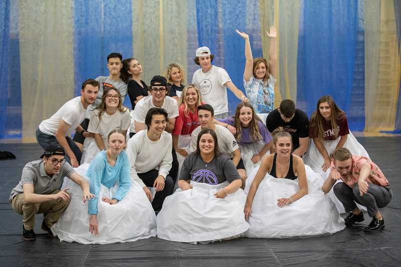 PMG PHOTO: JONATHAN HOUSE - The West Linn High May Day court.