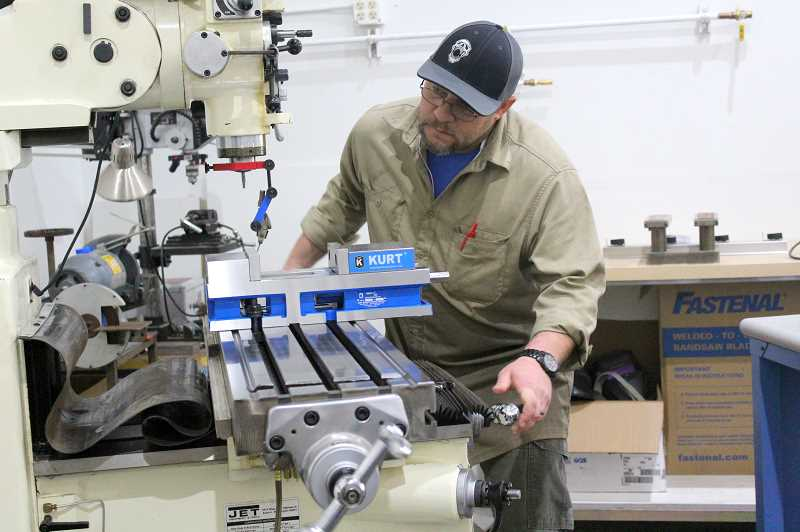 PMG PHOTO: COREY BUCHANAN - OIT student Nick Tucker was working on projects at the facility last week.