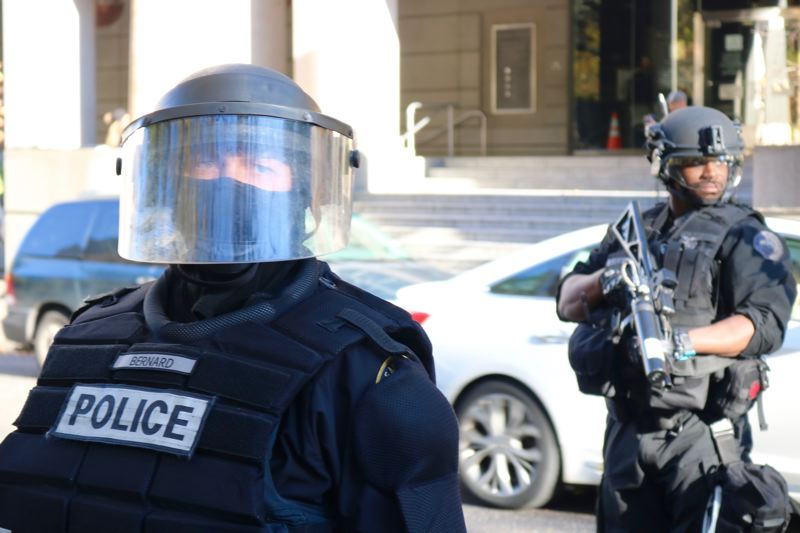 FILE PHOTO - Portland Police officers were dressed in riot gear during a protest on Saturday, Nov. 17 in Portland.