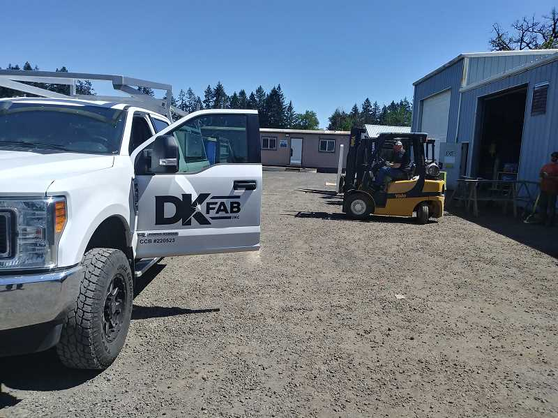 PMG PHOTO: JUSTIN MUCH - DK Fab began in 1999 as a mobile welding and steel fabrication shop in Woodburn. It was recently granted an economic tax exemption by Marion County as part of its agricultural investment plans.