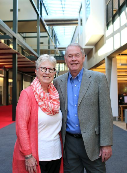 PCC PHOTO - Chris and Tom Neilsen, major donors to the Portland Community College Foundation's Campaign for Opportunity.