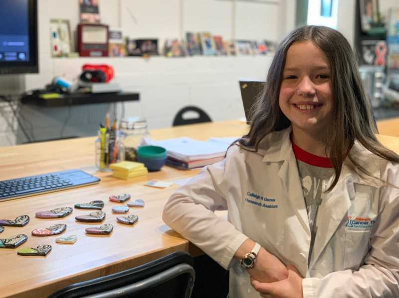 SUBMITTED PHOTO - Calleigh Germer volunteers regularly at Children's Cancer Therapy Development Institute, a Beaverton nonprofit biotech lab dedicated to making childhood cancer survivable.
