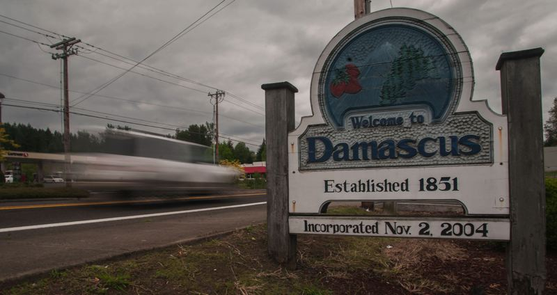 FILE PHOTO - The Damascus sign is shown here.