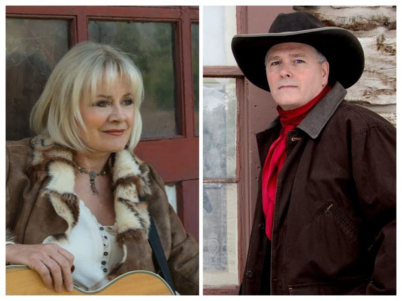 COURTESY PHOTOS - Singer-songwriter Claudia Nygaard (left) and cowboy poet Tom Swearingen team up for a concert May 4 at Cafe Artichoke.