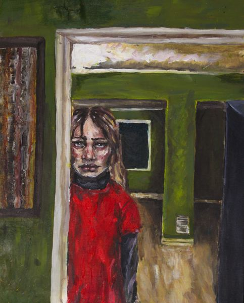 Elise Nuissl from Milwaukie Academy of the Arts won the Jurors Choice award for her piece titled 'Fever Dream.'