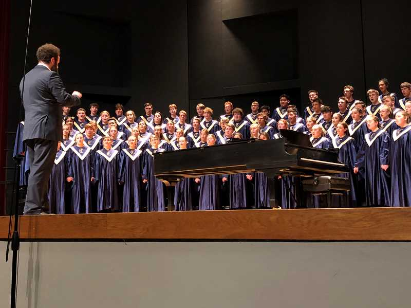 COURTESY PHOTO - Canby High's choir places 5th in state at the OSAA state choral competition on May 1.