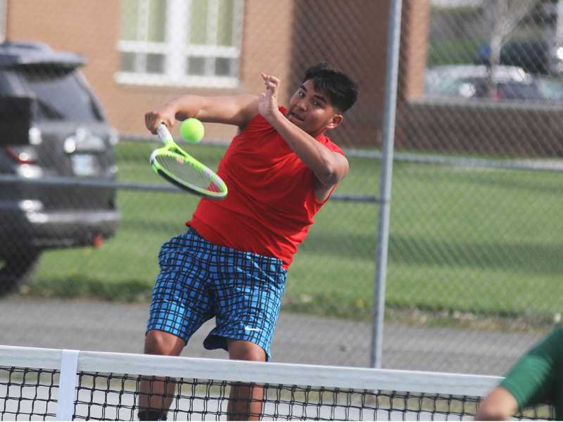 STEELE HAUGEN - Tony Giron and doubles partner Esteban Gomez are ready to make a splash in this years district tournament.