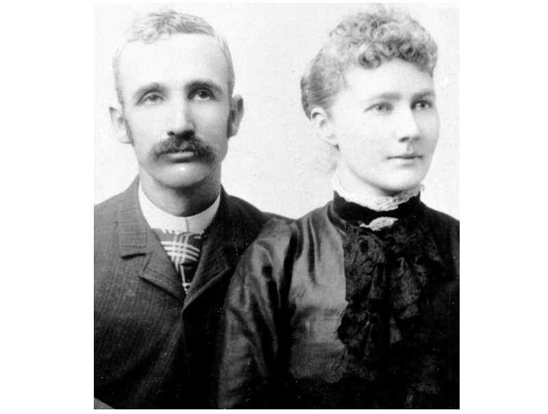 PHOTO COURTESY OF BOWMAN MUSEUM - Cass and Emily Cline were early Central Oregon homesteaders. In 1890, they took out a homestead on the Deschutes, at a site that would become known as Cline Falls.