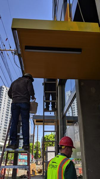 PMG PHOTO: JOSEPH GALLIVAN - The finishing touches are being put on the Oro apartments, which are anticipated to be filled by November, 2019.