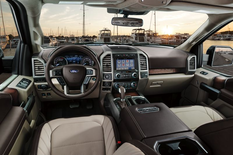 FORD MOTOR COMPANY - The interior of the 2019 Ford F-150 Limited is roomy, luxurious, and packed with the most advanced automotive technologies.