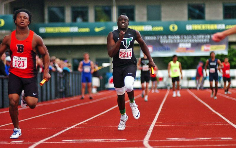 PMG PHOTO: DAN BROOD - Alex Oyombe Gradin, 21, ran track at Tigard High School and was a 2016 graduate.