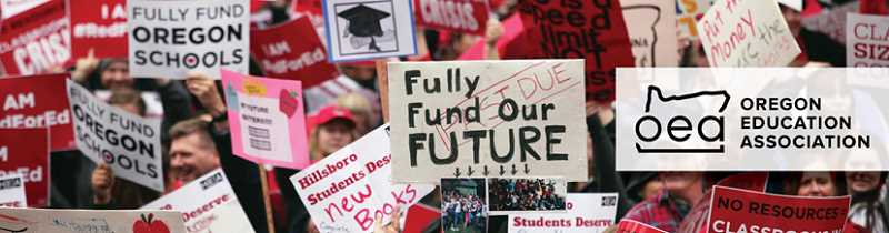 COURTESY PHOTO: OEA - Canby educators will join participants across the state on May 8 to rally for better school funding.