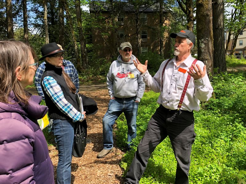 COURTESY PHOTO - Clackamas County Extension Forester Glenn Ahrens provides information about forest ecology in the Willamette Valley during two forest talks at Arbor Day.