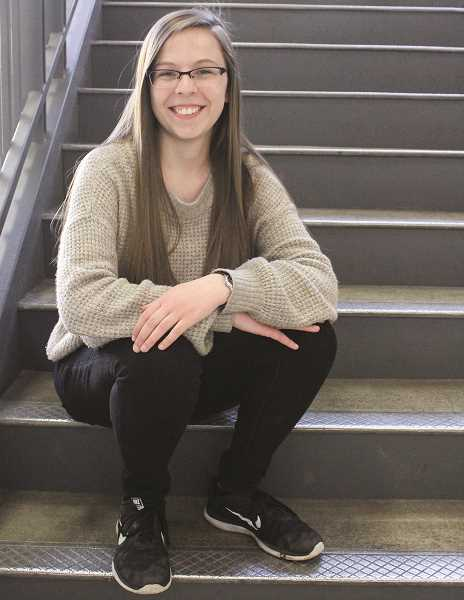 HOLLY SCHOLZ /CENTRAL OREGONIAN  - Crook County High School senior Olivia Cooper, of Prineville, advocates for tobacco prevention among youth.