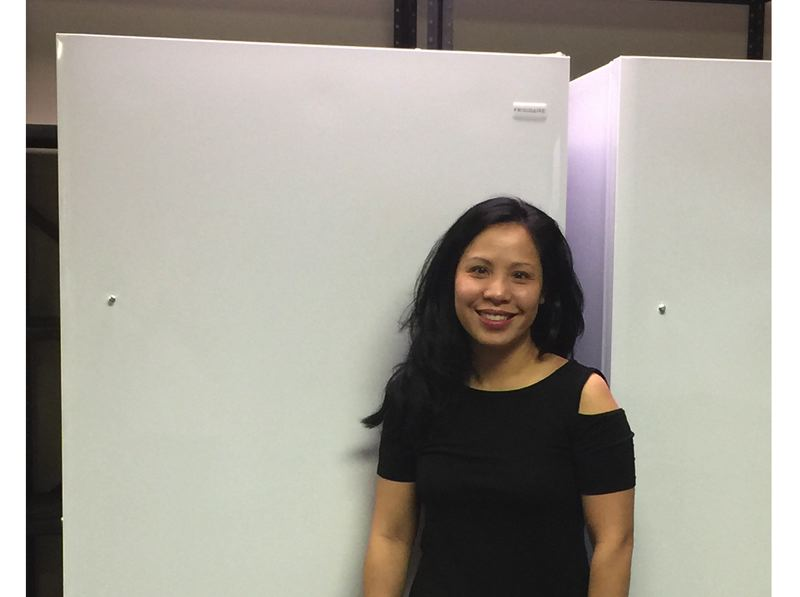 Local attorney and real estate agent Michelle Chao donated two new freezers to the Gladstone Food Pantry.