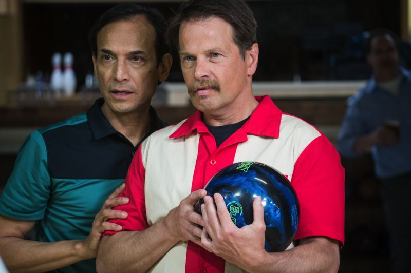 COURTESY: MARY WILKINSKELLY - Jesse Borrego (left) and James Le Gros star as friends trying to reinvent their lives through taking over and restoring a bowling alley in 'Phoenix, Oregon,' which screens at four Portland theaters, May 13-16.