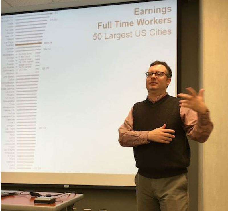 PMG FILE PHOTO: VANCE TONG - Christian Kaylor, an Oregon Employment Department workforce economist, is featured speaker at the 2019 East Metro Economic Prosperity Forum, providing insights on the local job market.