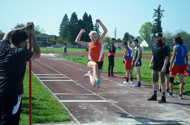 PMG FILE PHOTO: TANNER RUSS - Molalla's track and field team recently took to the road to compete against a host of other teams at the Madras Invitational.