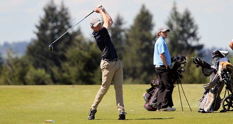PMG FILE PHOTO: MILES VANCE - Canby's Sam Krauss at Stone Creek Golf Club.
