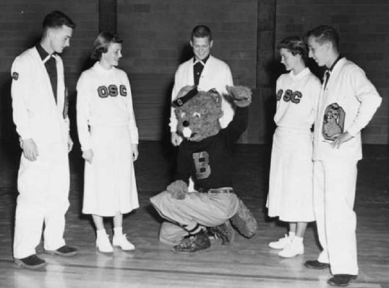 OSU ARCHIVES - Ken Austin Jr. was the first ever Benny Beaver, donning the mascot's suit while a student at Oregon State College (now Oregon State University) in the mid-1950s.